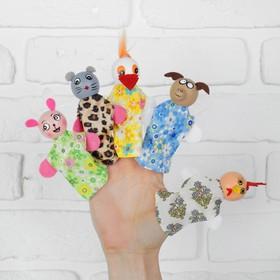 Пальчиковый театр «Звери», МИКС, 5 кукол