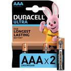 Батарейка алкалиновая Duracell UltraPower, ААА, LR03-4BL, 2 шт