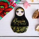 "Magnet ""Matryoshka.Black and gold"", a 7.7*5.4 cm"