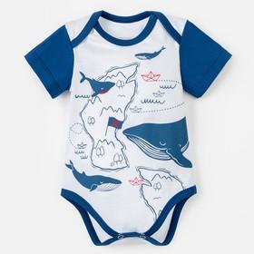 "Боди Крошка Я ""Little sea man"", белый, р. 24, рост 68-74 см"