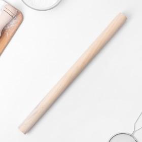 Скалка деревянная Доляна, 40 см, прямая