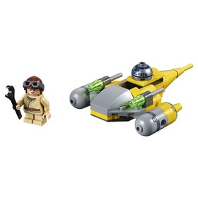Конструктор «Звёздные войны Микрофайтеры: Истребитель с планеты Набу», 62 детали