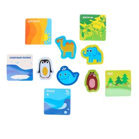 Набор игровой развивающий «Животные», 10 предметов: 5 игрушек из EVA + 5 карточек Ош