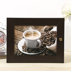"Ключница ""Горячий кофе"" Мини Венге 18х23 см - фото 824112"