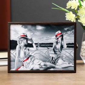 "The housekeeper ""Ladies in hats"" Decobox Wenge 13,5x18,5 cm"