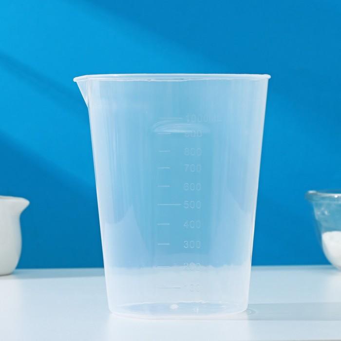 Мерный стакан, 1 л, цвет прозрачный