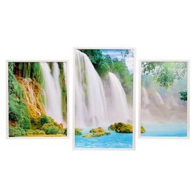 """Модульная картина """"Водопады""""  62*108 см (38х62; 32х48;38х48)"""