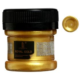 Краска акриловая, LUXART. Royal gold, 25 мл, с высоким содержанием металлизированного пигмента, золото лимонное