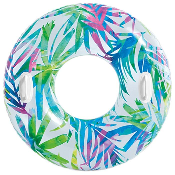 Круг для плавания «Узоры», с ручками, d=97 см, от 9 лет, цвета МИКС, 58263NP INTEX