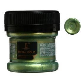 Краска акриловая, LUXART. Royal gold, 25 мл, с высоким содержанием металлизированного пигмента, золото зелёное