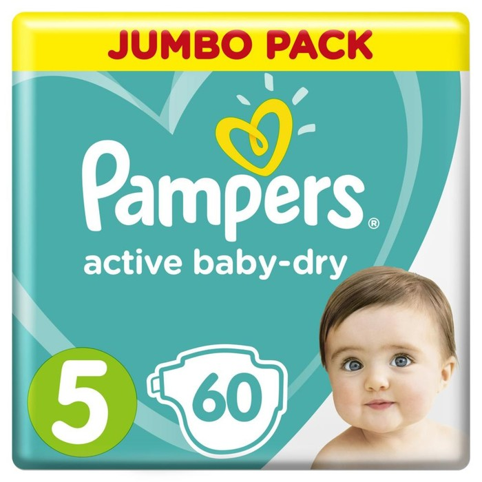 Подгузники Pampers Junior (11-16  кг),  60 шт