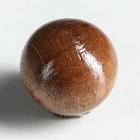 """Ручка мебельная """"Круглая"""", тип 2, крашеная, цвет темный орех, d-30, L-30 мм"""