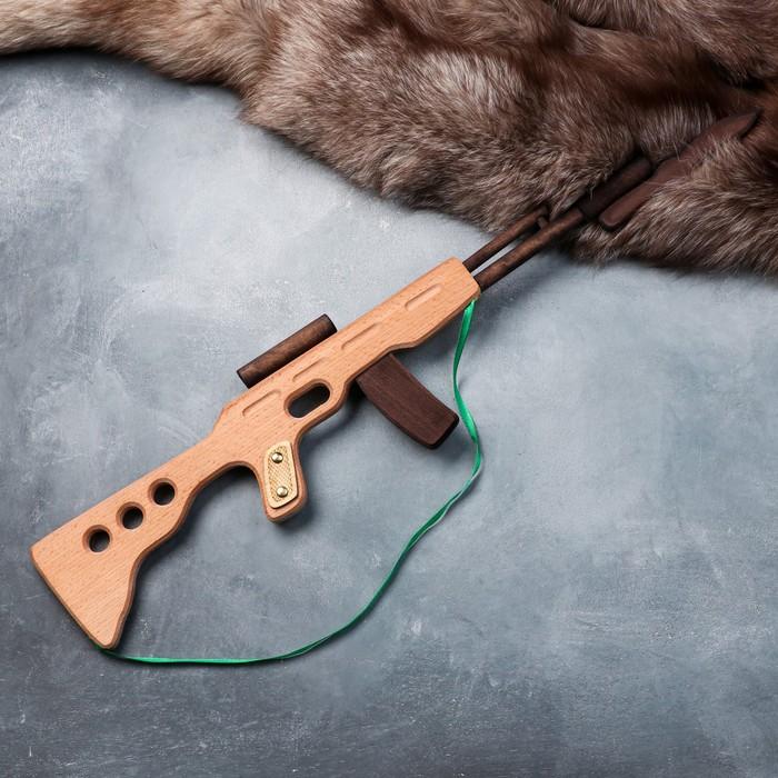 """Сувенир деревянный """"Автомат боевой"""", 60 х 15 см, массив бука - фото 725860020"""
