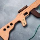 """Сувенирное деревянное оружие """"Автомат боевой"""", 60 х 15 см, массив бука - фото 105640856"""