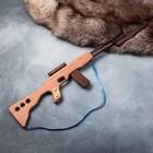 """Сувенирное деревянное оружие """"Автомат боевой"""", 60 х 15 см, массив бука - фото 105640858"""