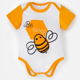 "Боди Крошка Я ""Love & honey. Bee"", белый, р. 24, рост 68-74 см"