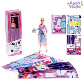 Кукла-модель шарнирная «Анна» с набором для создания одежды «Я модельер», МИКС