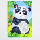 """Мозаика перьями и стразами """"Панда"""""""