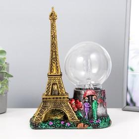 """Плазменный шар """"Эйфелева башня"""" 10х18х27 см"""