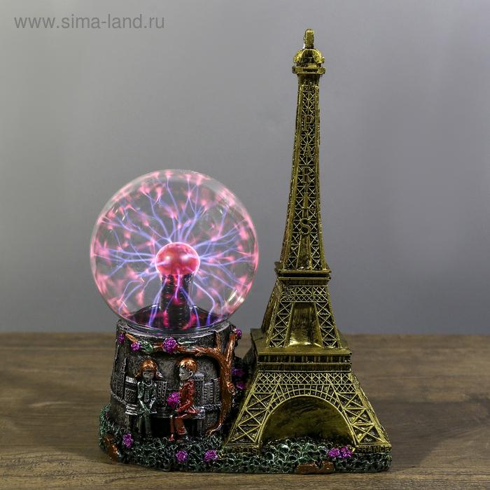 """Плазменный шар """"Влюбленные в Париже"""" 10х18х27 см"""