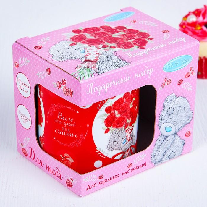 "Кружка с полотенцем в подарочной коробке ""Для тебя!"", Me to You, 350 мл, 30х30"