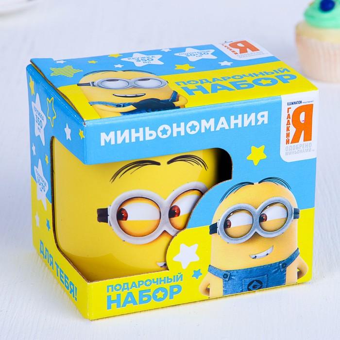 """Подарочный набор кружка и полотенце  """"Emoji"""", Гадкий Я, 350 мл, 30х30"""