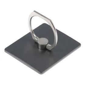 Держатель-подставка с кольцом для телефона LuazON, в форме квадрата, черный Ош
