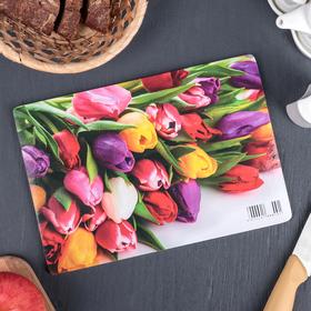Доска разделочная «Весенний букет», 25×16,5×0,6 см