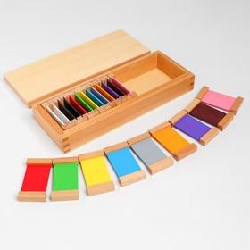 Игра по методике Монтессори «Цветные таблички», средний набор