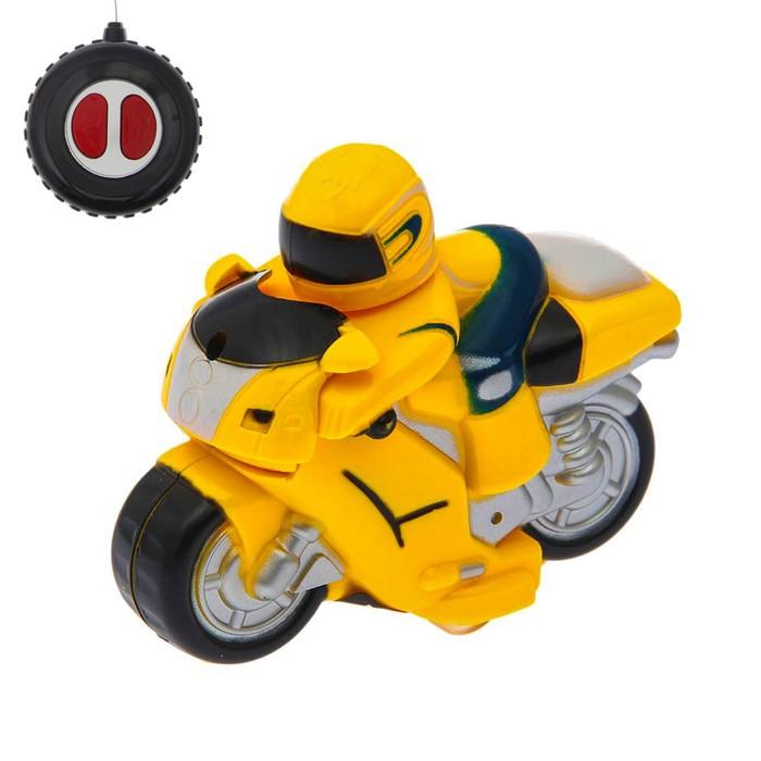 """Мотоцикл радиоуправляемый """"Супербайк"""", работает от батареек"""