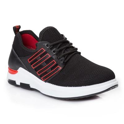 Кроссовки женские 631 MINAKU, черный/красный, размер 39