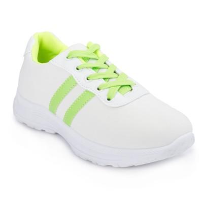 Кроссовки женские 640 MINAKU, цвет белый/салатовый, размер 37