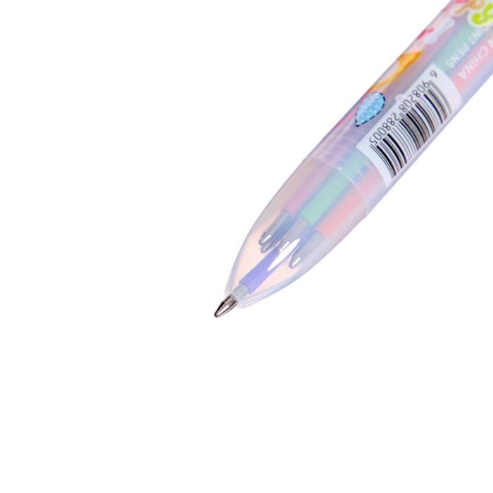 Ручка шариковая, автоматическая, 6-ти цветная, «Совы» - фото 543787934
