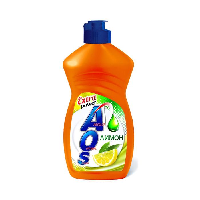 Средство для мытья посуды AOS Лимон, 450 гр.