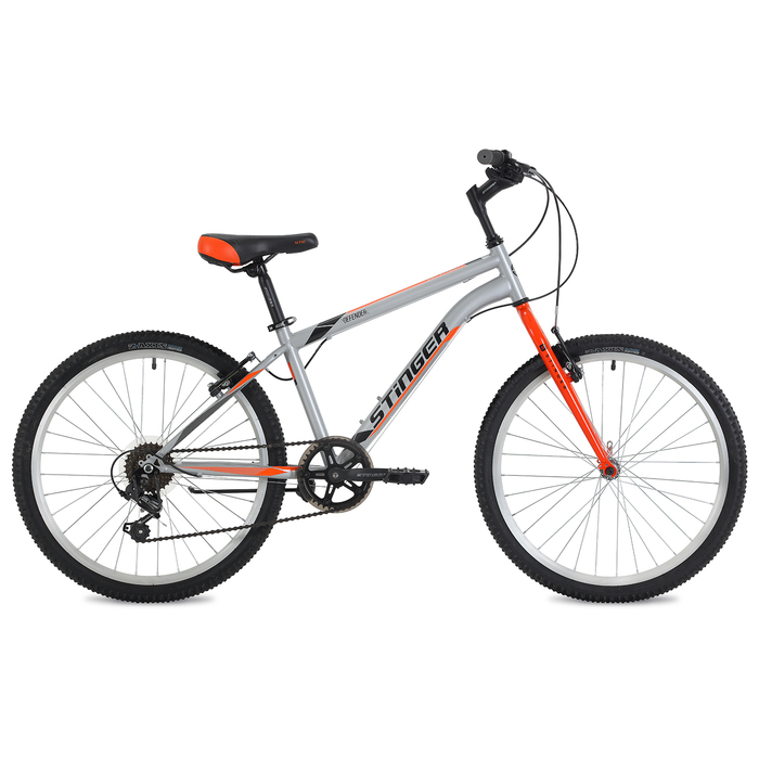 """Велосипед 24"""" Stinger Defender, 2018, цвет серый, размер 14"""""""