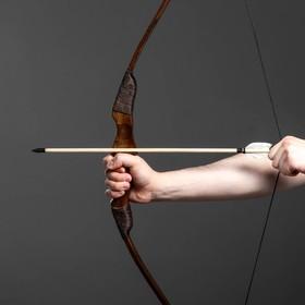 """Сувенирное деревянное оружие """"Лук фигурный"""", взрослый, коричневый, массив ясеня, 120 см"""