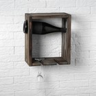 "Полка-подставка деревянная ""Минимализм"", под старину, 32 х 13 х 15 см"