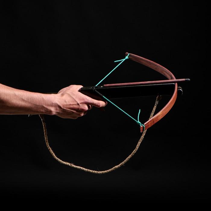 """Сувенирное деревянное оружие """"Арбалет"""", взрослый, чёрный, массив ясеня, 47 см"""
