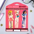 """Набор """"Для стильных девчонок"""", 3 ручки-закладки + мини-стикеры 3 шт, 14,5 х 19 см"""