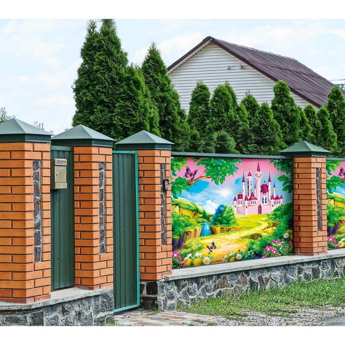 Фотобаннер, 250 × 150 см, с фотопечатью, «Сказочный замок»