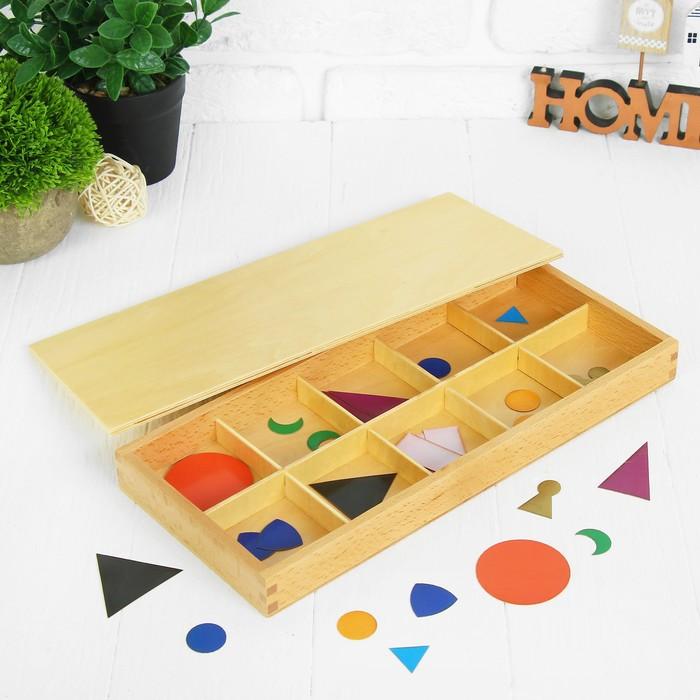 Сортировщик форм в деревянном ящике