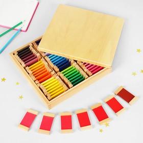 """Игра по методике Монтессори """"Цветные таблички, большой набор"""""""