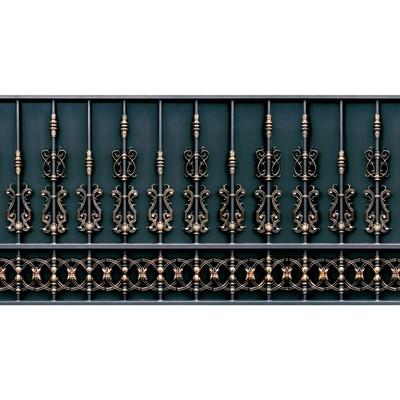 Фотобаннер, 300 × 200 см, с фотопечатью, «Золотой забор»