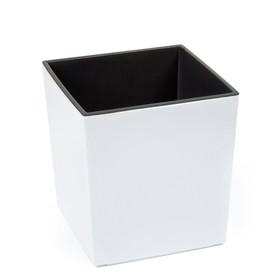 Пластиковый горшок с вкладкой «Юкка», цвет белый