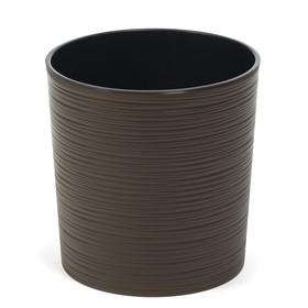 Пластиковый горшок с вкладкой «Мальва», цвет коричневый