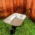 Тачка садовая, одноколёсная (объём 110 л, груз/п 120 кг, пневмоколесо 3.50-6, кузов 0,8 мм)