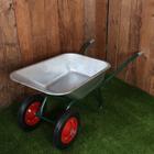 Тачка садово-строительная двухколёсная (объём 110 л, груз/п 320 кг, пневмоколесо 3.00-8, кузов 0,8 мм)