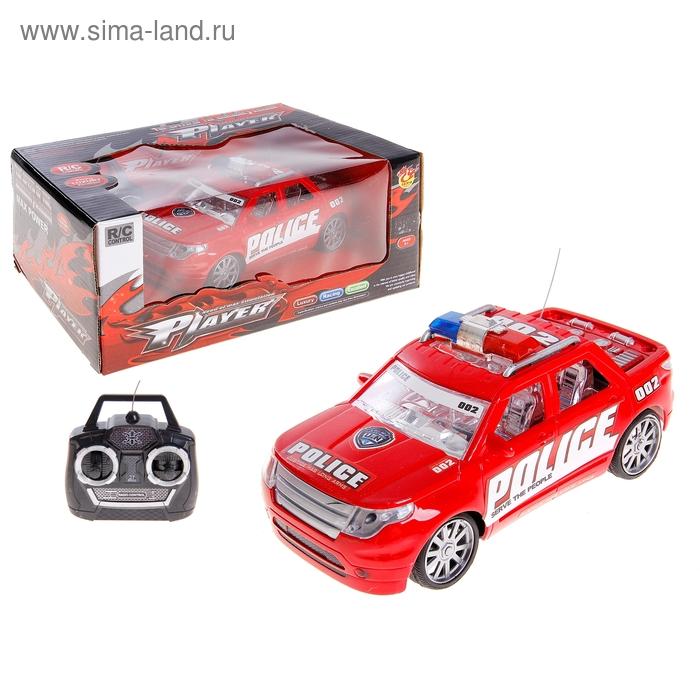"""Машина радиоуправляемая """"Полиция"""", световые и звуковые эффекты,работает от батареек, цвета МИКС"""