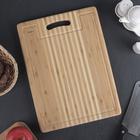 Доска разделочная с желобком, 36х27х1,8 см, бамбук