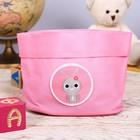 """Настольная корзинка """"Зайчик, розовый"""" - фото 308332963"""